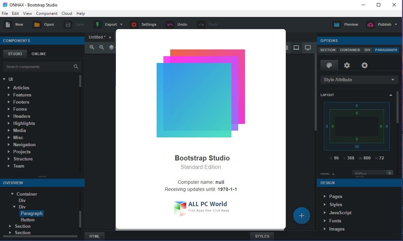 Bootstrap Studio Mac Crack
